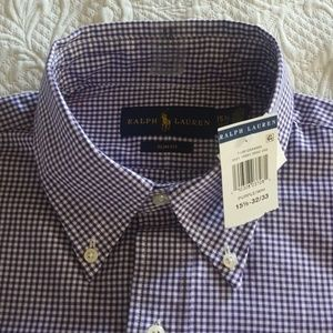 Ralph Lauren plaid shirt, slim fit